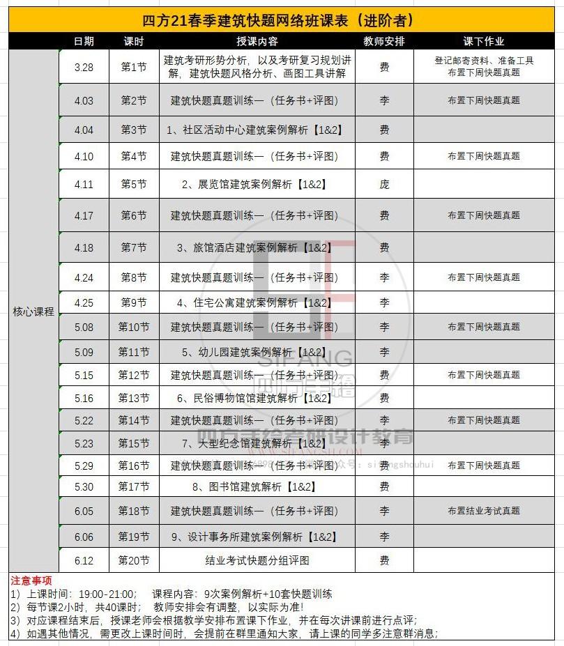 建筑快题考研班课表二(进阶者).jpg
